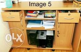 Multi Utility Table with Locks in Drawers and Cabinets