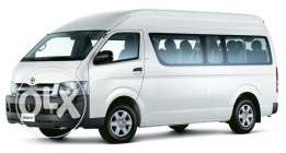 Toyota hiace for rent with driver need call me