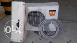 200 No's Six month used white westing house split ac. With pipe line