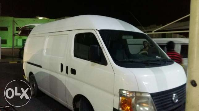 Sales van with driver and helper for rent