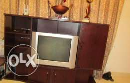 TV, TV cabinet and dining table for Sale