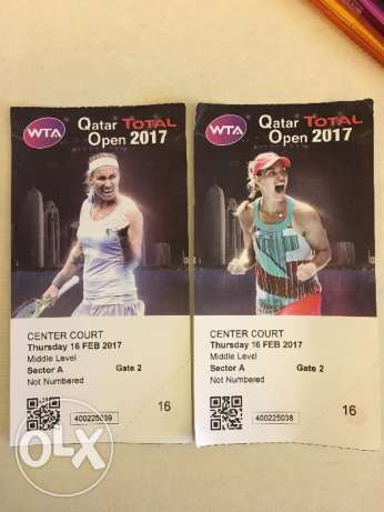 2 tickets for tennis