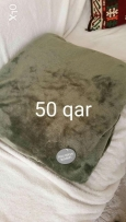 Olive green bed or sofa throw