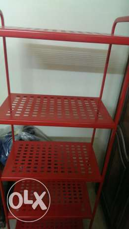 Ikea red shelving unit