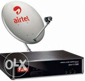 Airtel HD+ Settop box + Dish Antena(Big Size) With Cable for Sale نجمة -  1