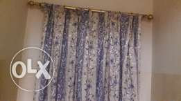 5 Curtains silk finish