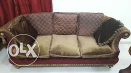 Selling these suede sofas.