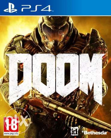 2 PS4 games DOOM and The Witcher 3 (used once)