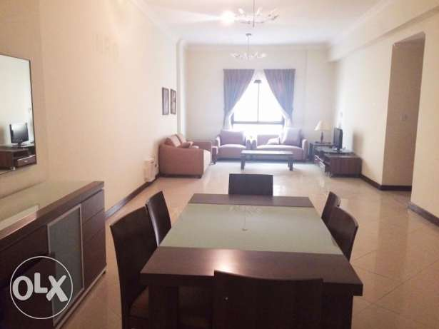 Fully Furnished 3BR Flat At -Al Sadd-