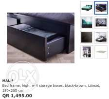IKEA Malm bed frame with matress