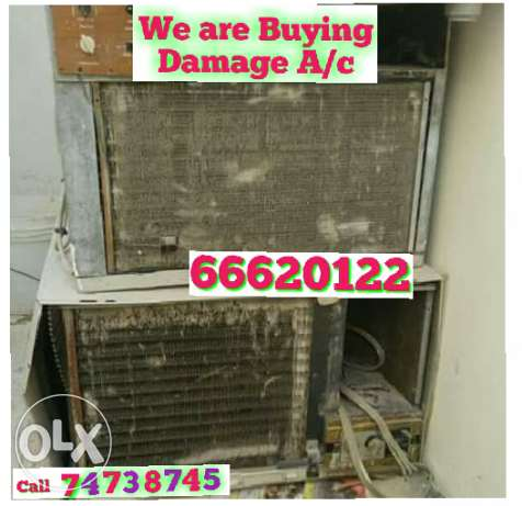 Buying damage A/C, Buying and selling all kind of used A/C