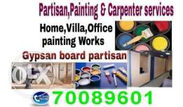 Room painting and patision services.