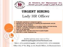 Lady HR Officer