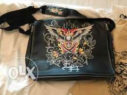 Ed Hardy Leather Laptop Bag