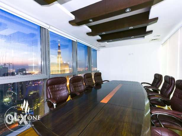 PALM TOWERS: Fully-fitted Office in West Bay with City View