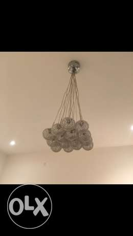 chandelier & stand lamp