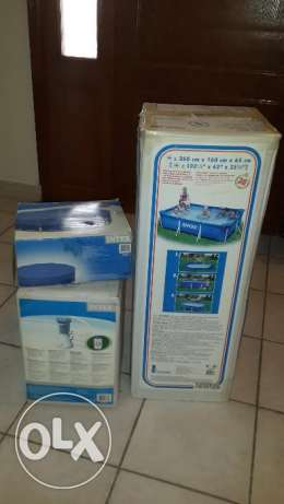 """INTEX"" Pool, Water Filter/Pump and Cover"
