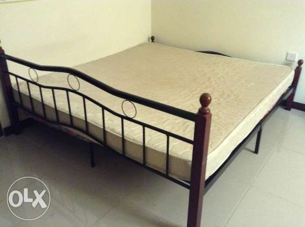 Double Bed With Rebonded Foam Mattress
