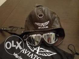 Vintage AVIATOR hat + glasses