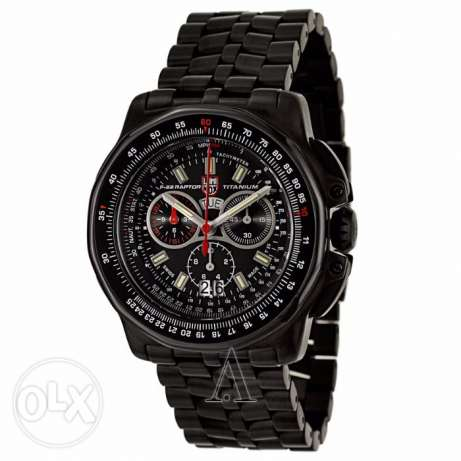 Luminox 9272 Mens Black Dial Quartz Watch with Titanium Strap Orignal