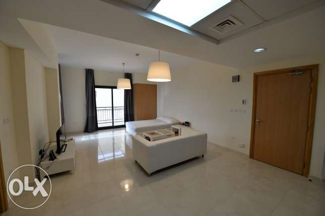 Huge furnished studio in Lusail with nice Balcony for rent