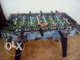 Unused F C B Mini Foosball Table with 11 Generic Players (2 Sets avl)