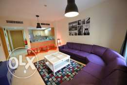 Lovely spacious furnished 1BD apartment with open kitchen in Lusail