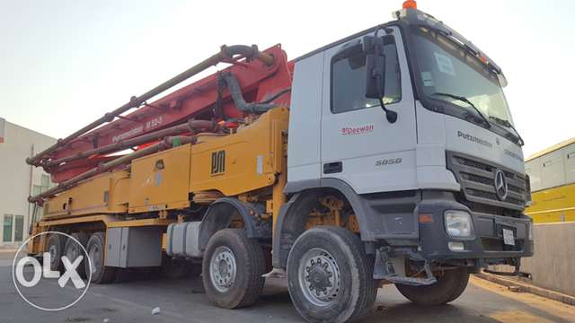 Used Putzmeister 52 meter Concrete pump for sale