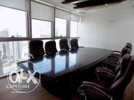 Fully-fitted and furnished office in West Bay with City Views