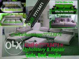 Used &Damaged sofa upholstery & Repairing all kinds