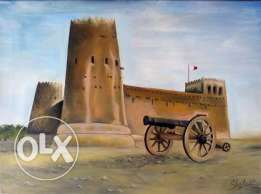 Oil Painting on canvas Qatar fort