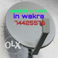 All satellite TV work contact