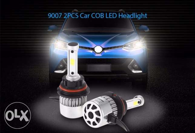 9007 2PCS - Car LED Headlight Bulbs 72W 6500K 8000LM