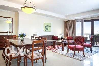 Fully-Furnished 1-BHK Flat in [The Pearl] الؤلؤة -قطر -  2