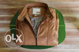 Brand new 'Mustang' Tan Leather Jacket for sale.