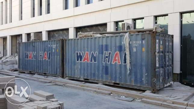 2x pc Used containers For Sale, Good Prices ! المشيرب -  1