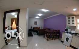 Nice 1 BHK fully furnished apartment in Doha Jadeed include w&e
