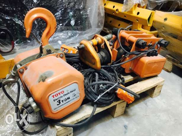 Used Toyo Electric chain Hoist for sale