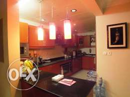 semi furnished 2 bedroom apartment for rent in pearl