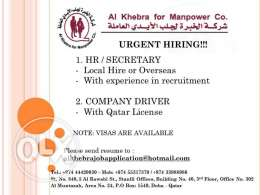 HR / Secretary and Company Driver
