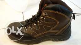 Vaultex Steel toe leather safety shoe brown color UK 7 EU 41