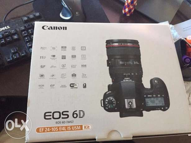 eos canon 6d with 24-105mm lens new