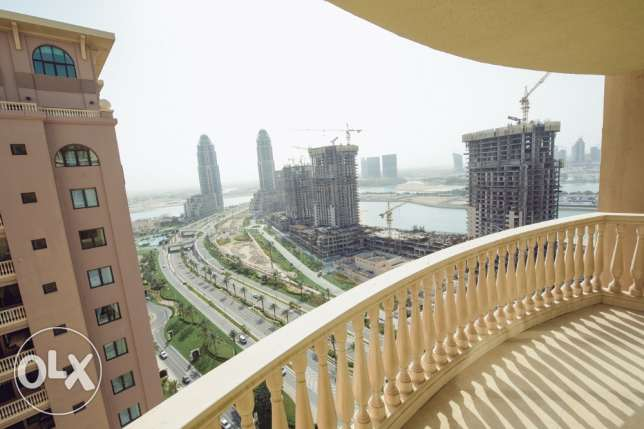 Luxurious 3 BHK unfurnished apartment for rent in the Pearl Qatar