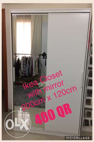 Ikea closet with mirror/ sliding doors
