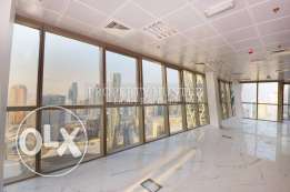 Top floor office space in luxury building