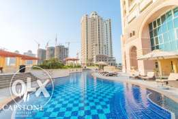 FIRST MONEHT FREE: SF 3-Bedroom Apartment in The Pearl Qatar