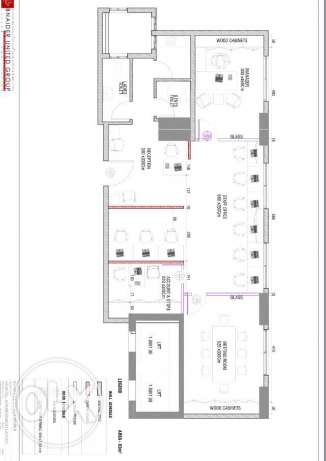 Office space - 100 sqm with 2 parking - Al sadd - For Rent - 14000/Qr