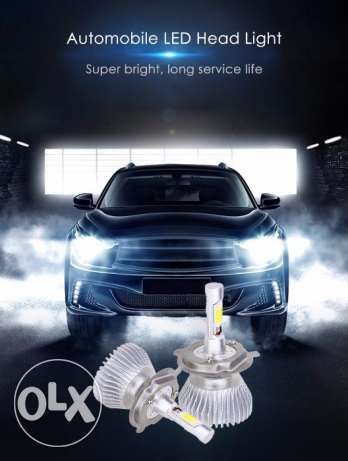 Paired H 4 LED Headlight Bulbs for Nissan and Others