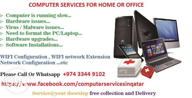 Computer Services at home or office in Doha-Qatar