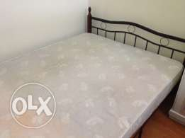 Double bed (Metal Frame) with mattress
